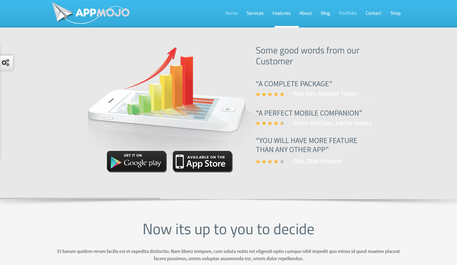 AppMojo Landing Page WordPress Themes