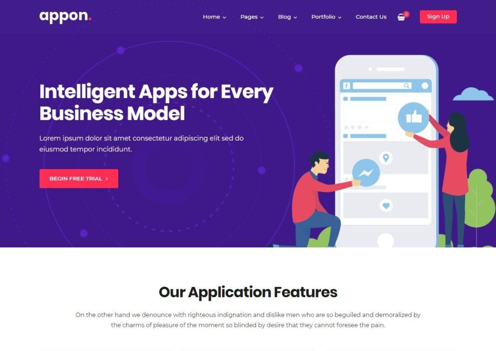 Appon SaaS WordPress Theme