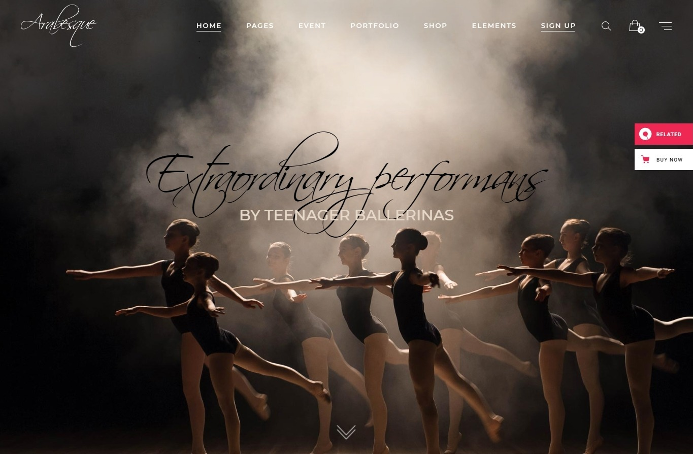 Arabesque Modern Ballet School and Dance Studio Theme