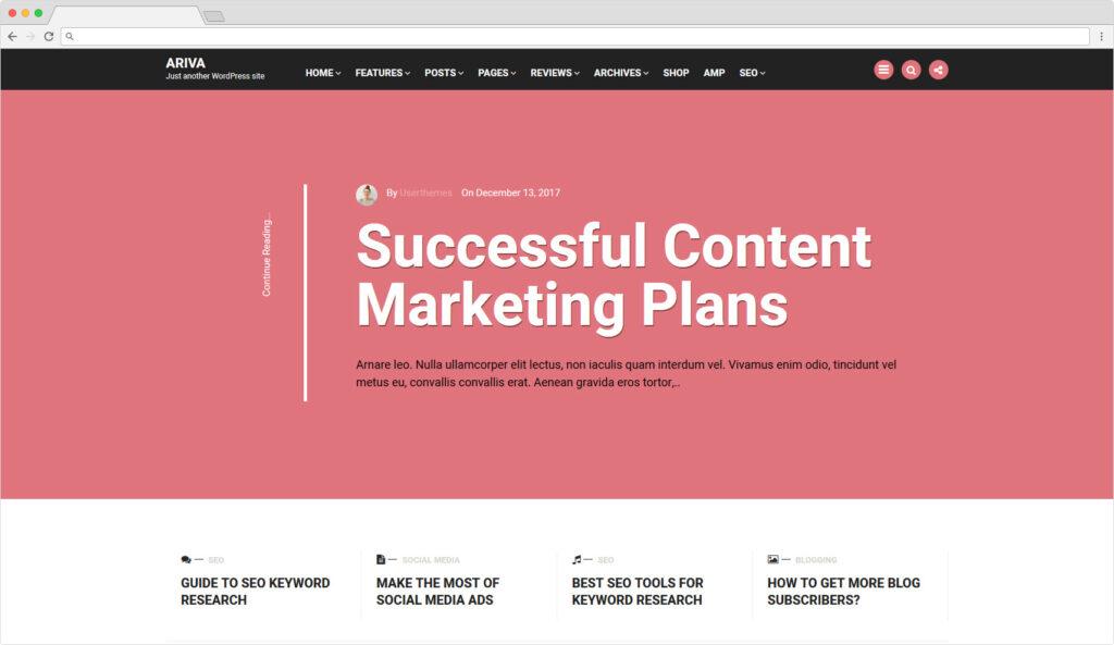 Ariva Material Design WordPress Business Theme