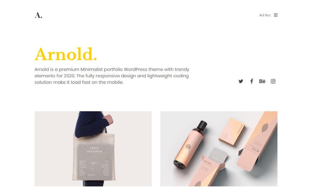 Arnold Premium Modern Minimalist Theme for WordPress