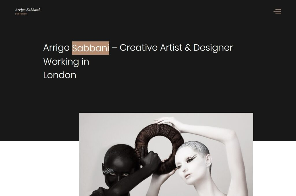 Arrigo Contemporary and Minimalist WordPress Theme