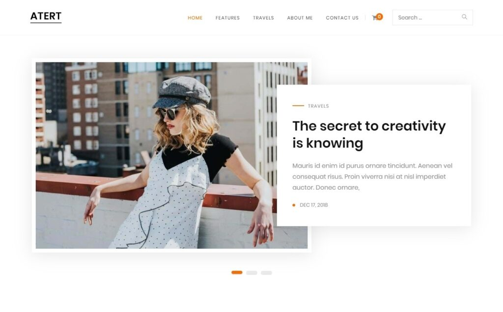 Atert Ultra Simple Personal Blog Theme