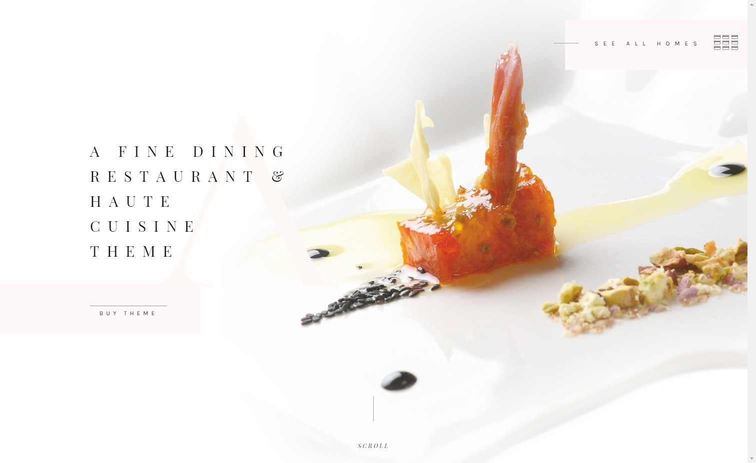 Attika Elegant WordPress Theme for Classy Restaurants