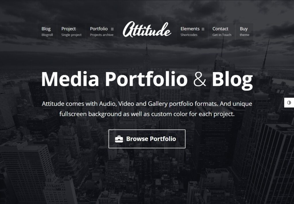 Attitude WordPress Multimedia Portfolio and Blog Theme