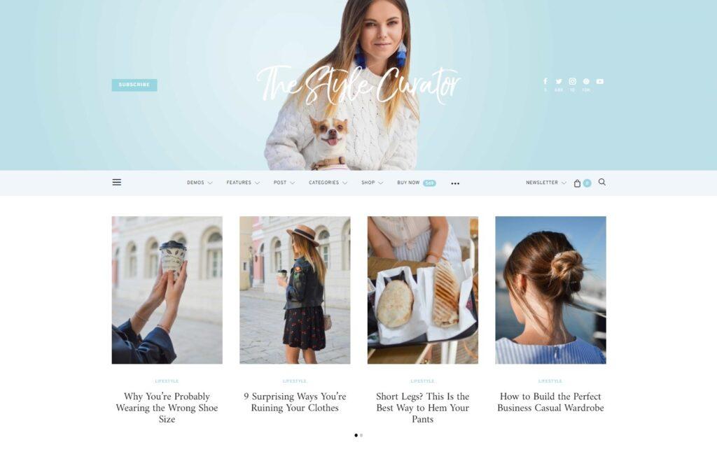Authentic The Style Curator Lifestyle Blog Magazine WordPress Theme