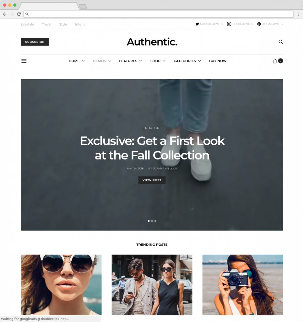 Authentic Writing Magazine And Blog Theme