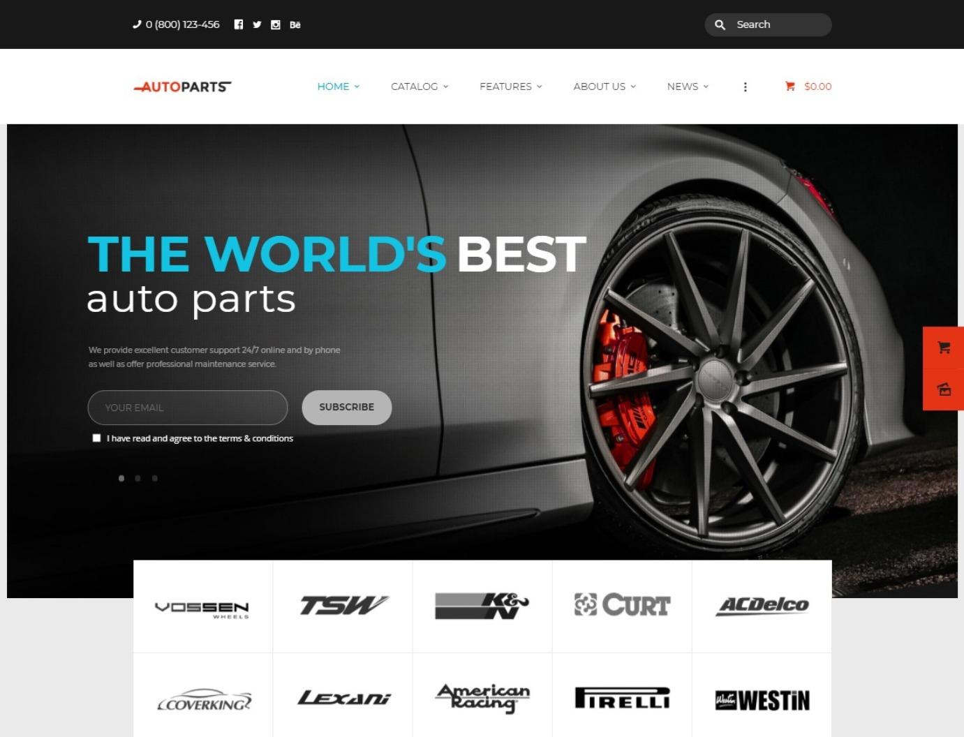 AutoParts WordPress Automotive Mechanic and Parts Shop Theme