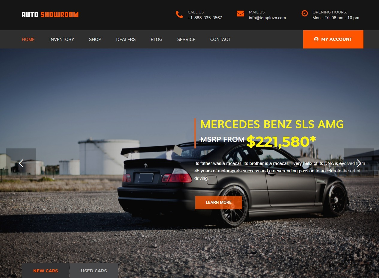 AutoShowroom Premium Car Dealer WordPress Theme