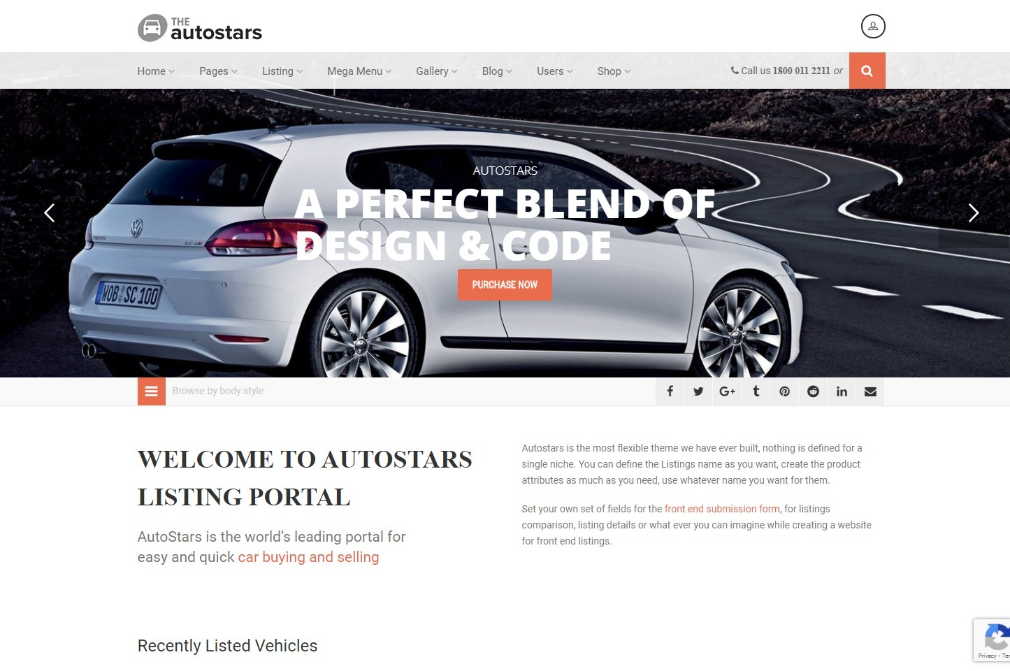 AutoStars Car Dealership and Listings WP Theme