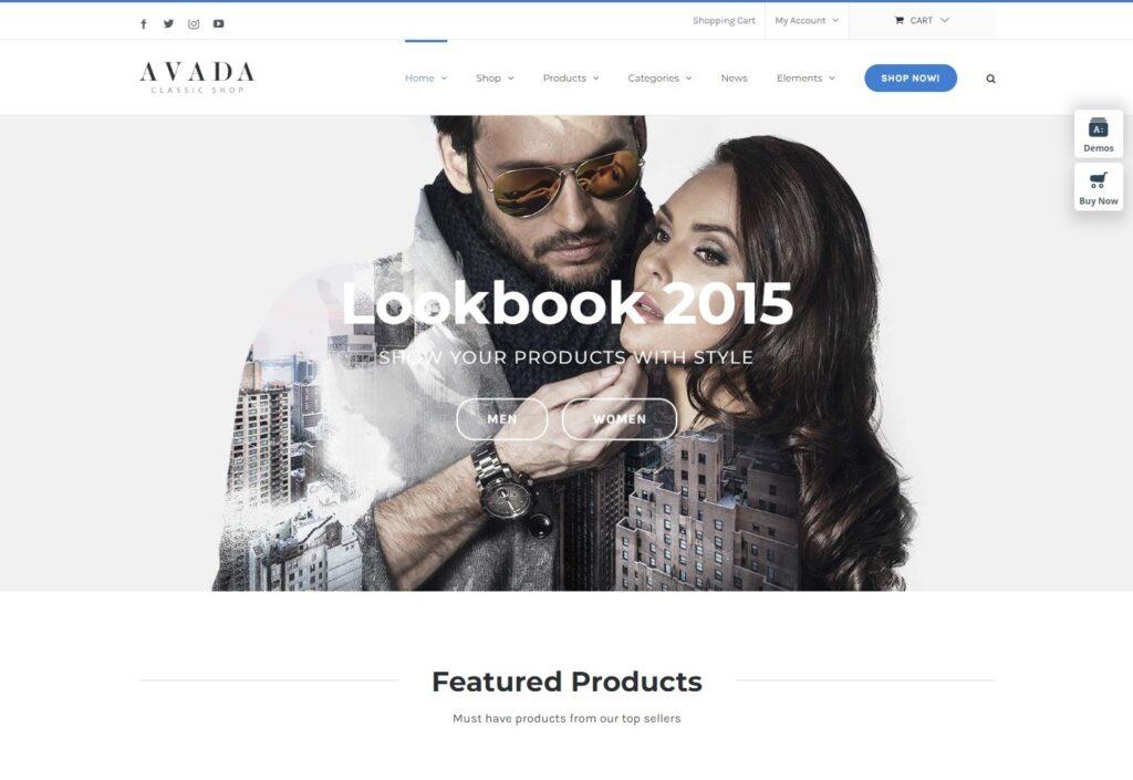 Avada Classic Shop WooCommerce Theme
