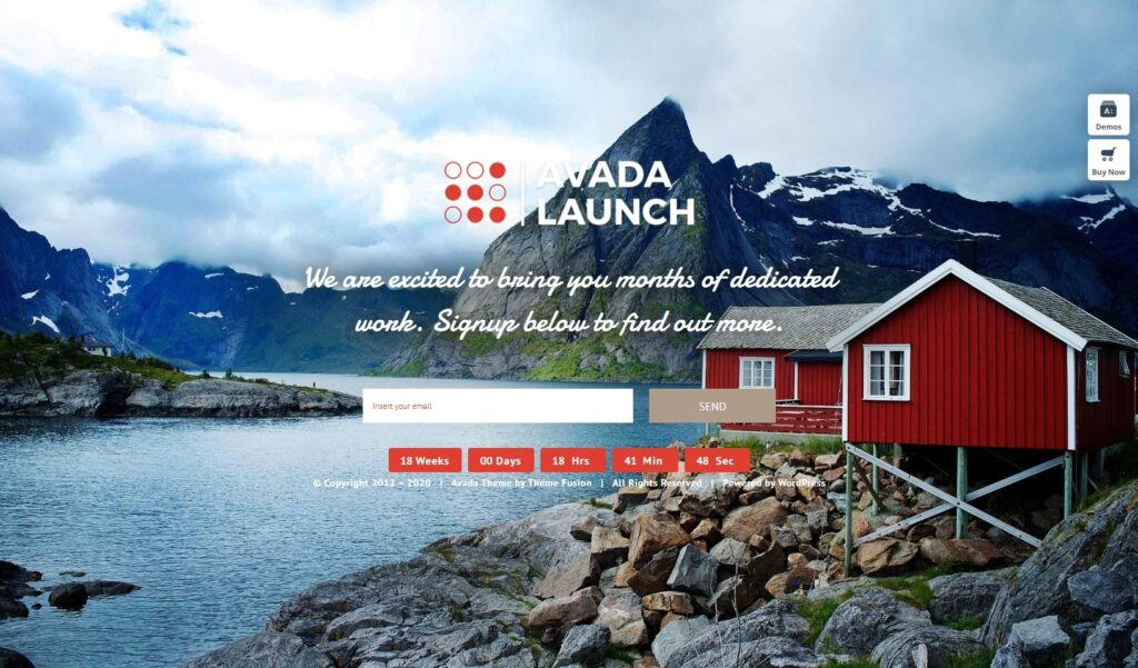 Avada Launch One Page WordPress Startup Themes