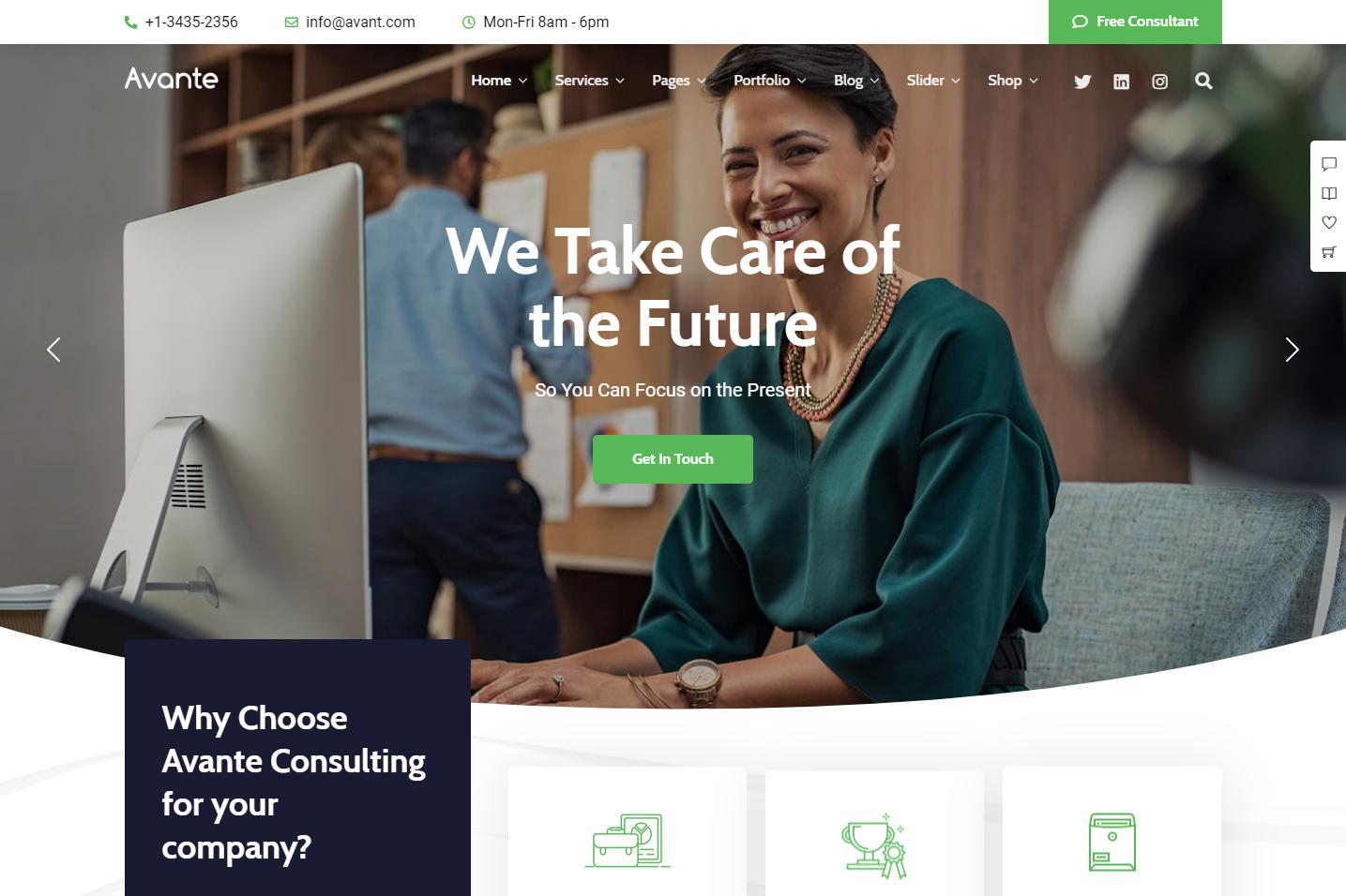 Avante Unique Business Consulting WordPress Theme