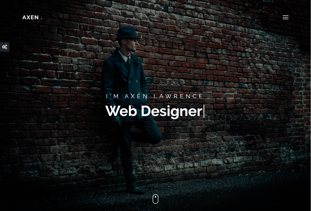 Axen Modern Full Screen Personal Portfolio Theme