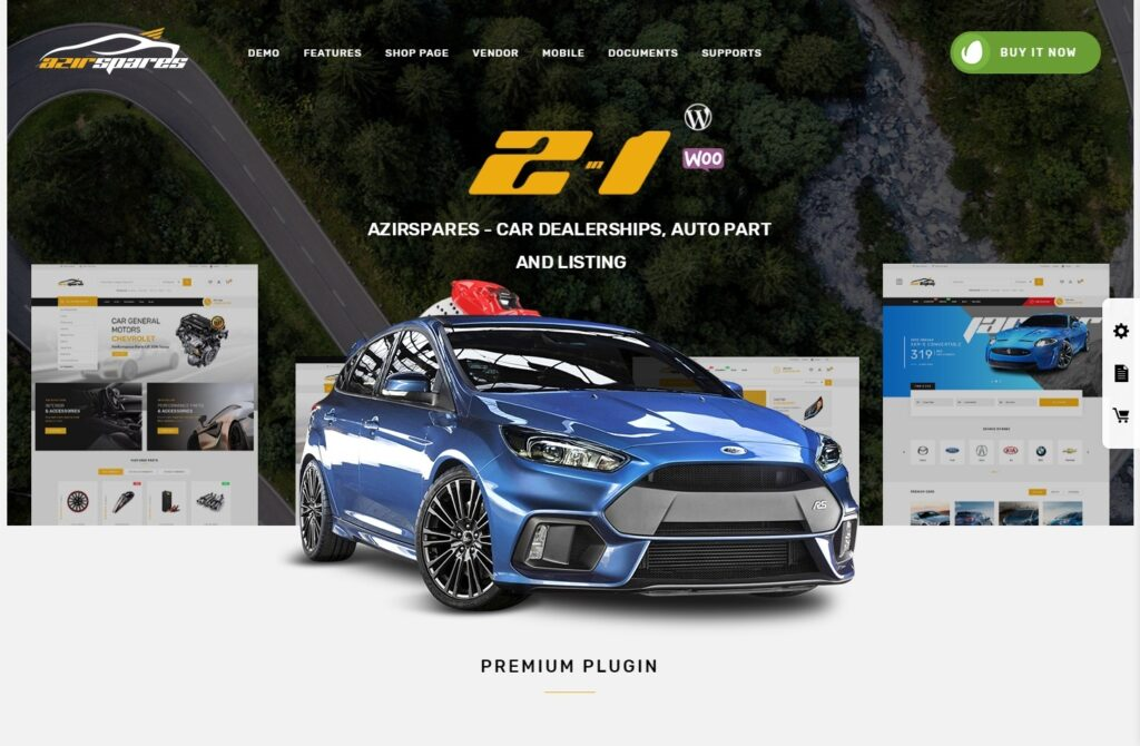 Azirspares Auto Parts and Auto Dealership WordPress Theme