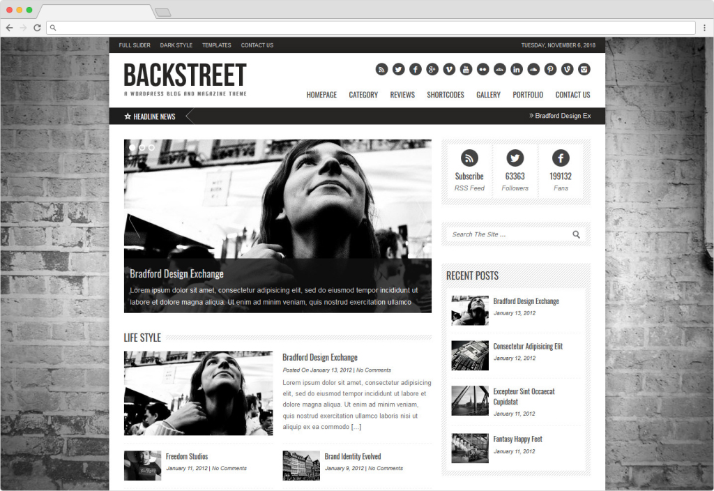 Backstreet Blog And Magazine Reviews WordPress Theme