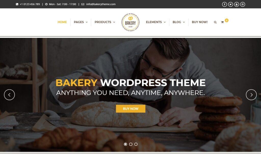 Bakery WordPress Bakery Cakery and Food Theme