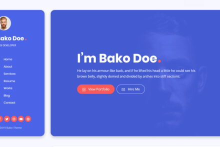 Bako WordPress vCard Theme