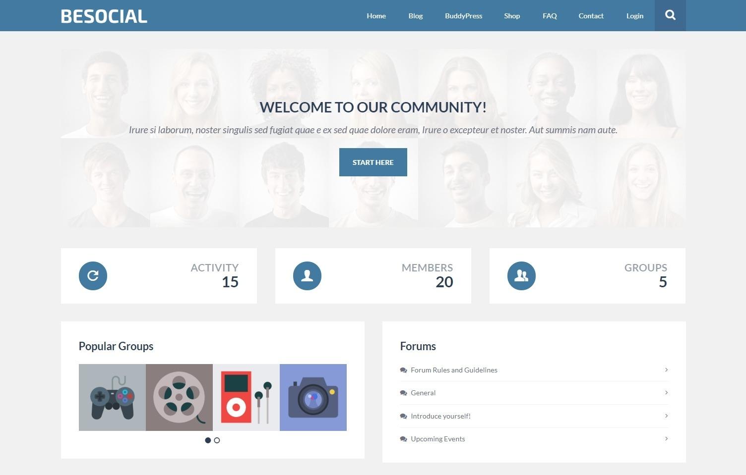 BeSocial BuddyPress Powered Dating Website