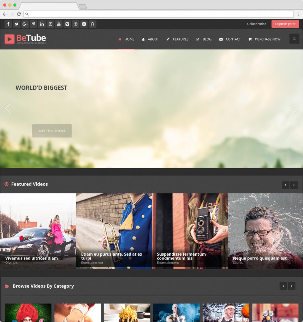 BeTube Best WordPress Filmmaker And Video Template