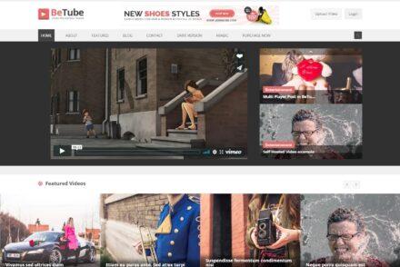 BeTube WordPress Theme Similar to YouTube