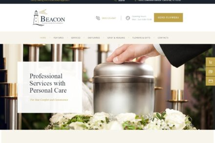 Beacon Funeral Home WordPress Theme