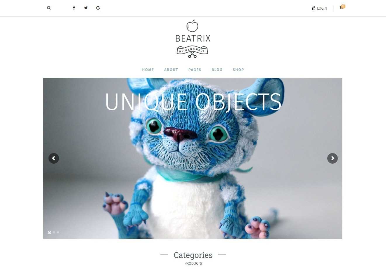 Beatrix WordPress Theme for Handmade Crafts
