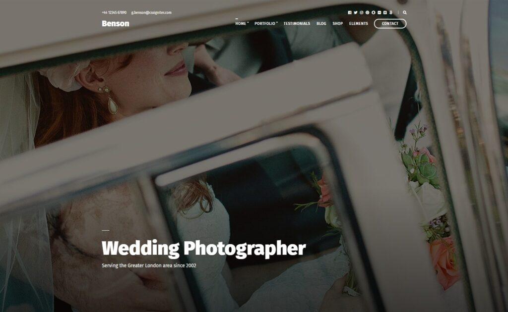 Benson Premium Photography and Video Portfolio Theme