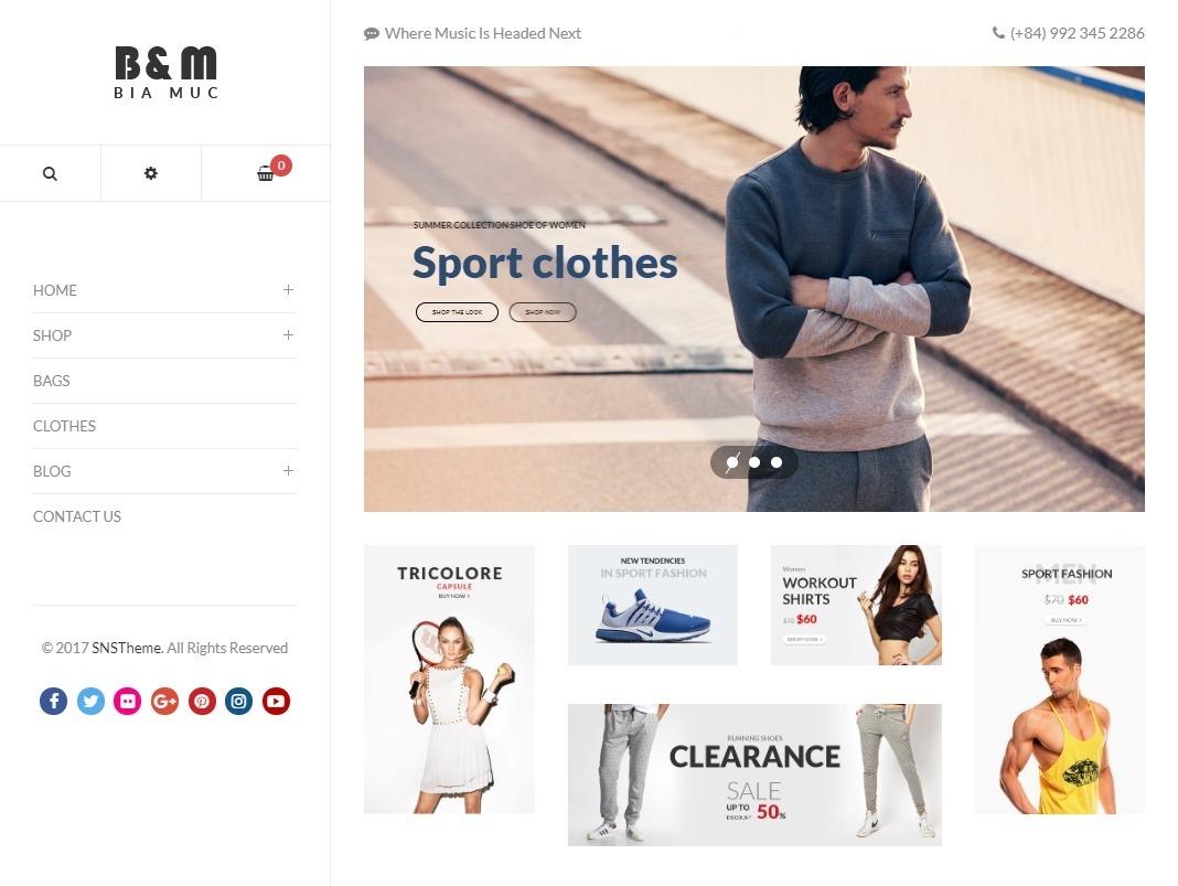 BiaMuc Fashion Shop WordPress Theme