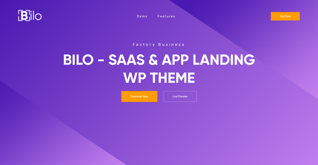 Bilo WordPress SaaS And App Landing Page Theme