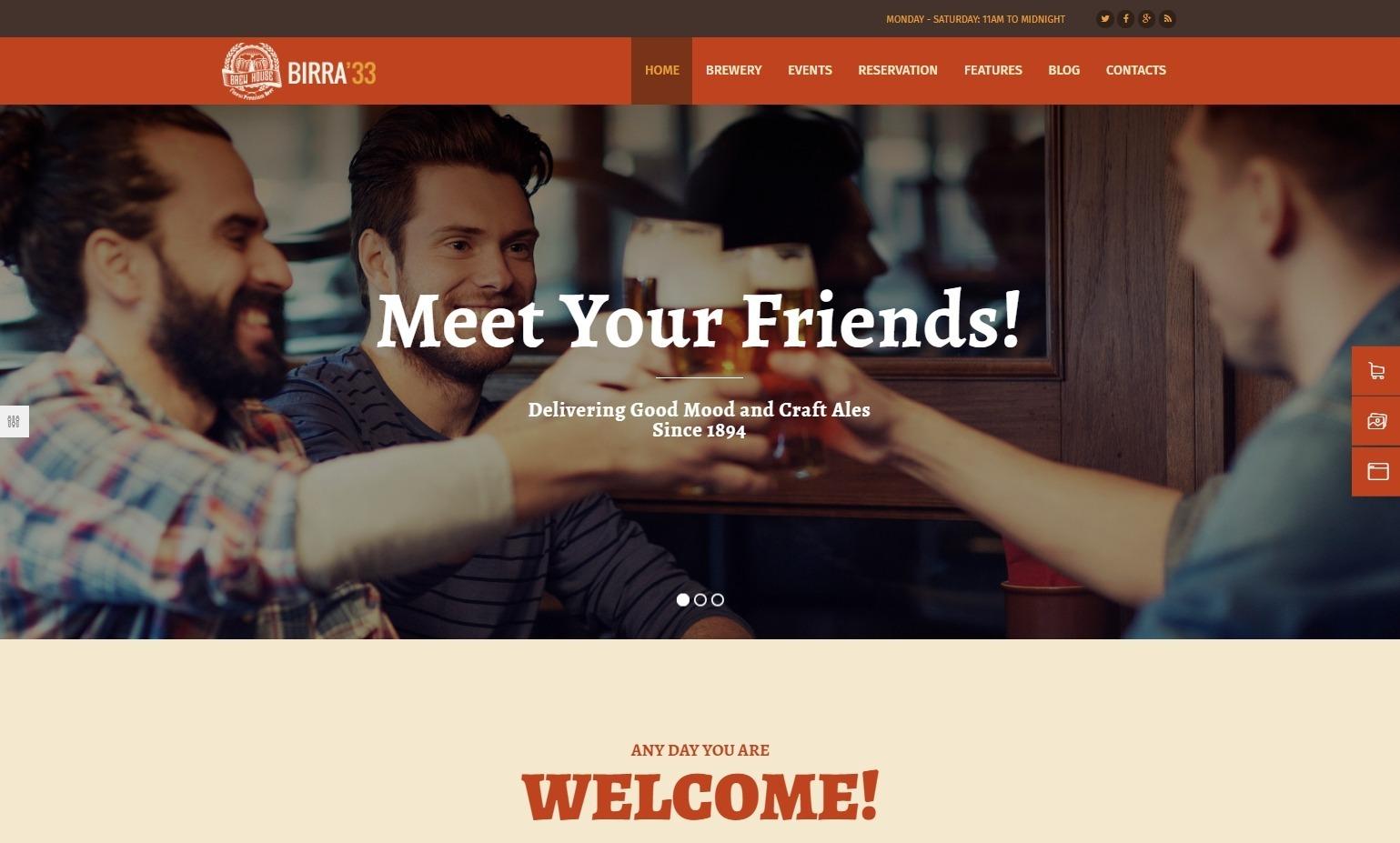 Birra 33 Brewery and Pub WordPress Theme