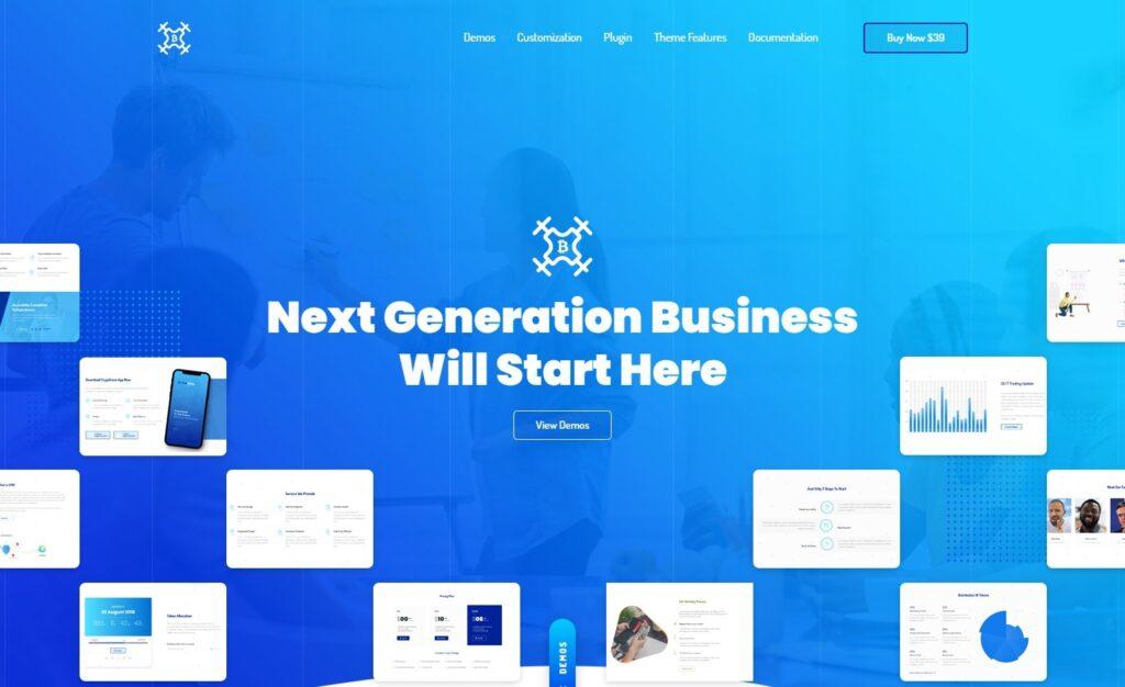 Bizdrone WordPress Theme for Tech Heavy Websites