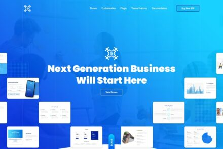 Bizdrone WordPress Theme for Tech Heavy Websites