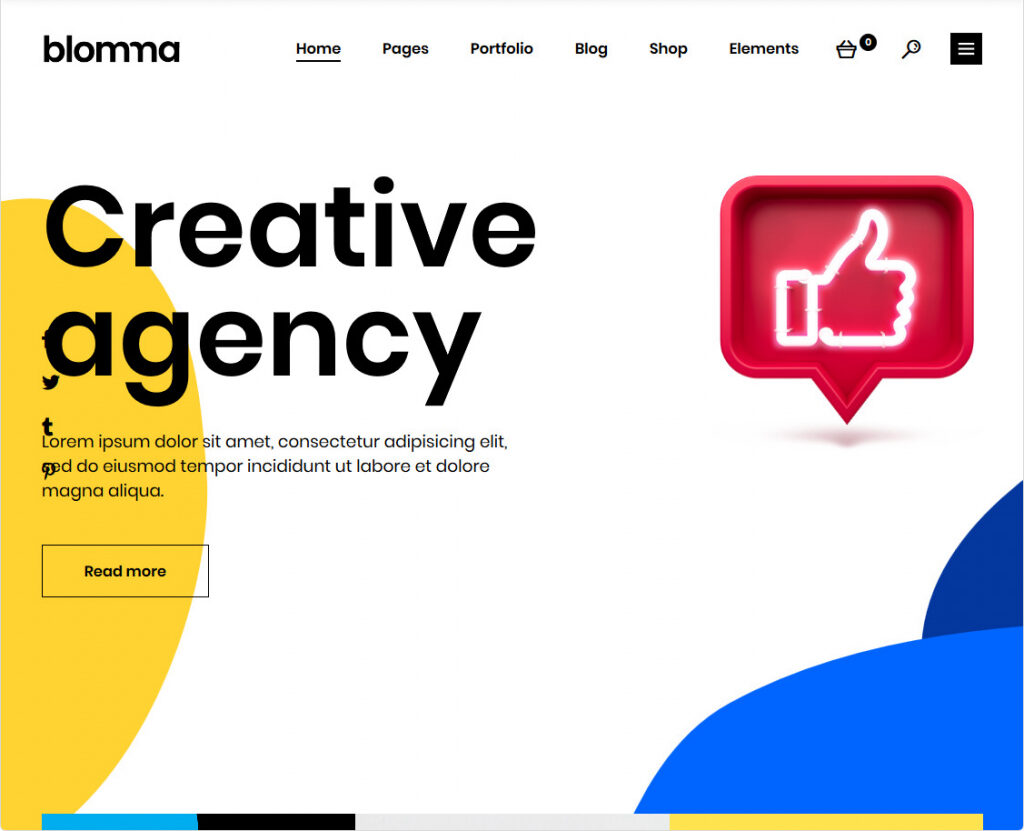 Blomma Creative Agency Portfolio Theme