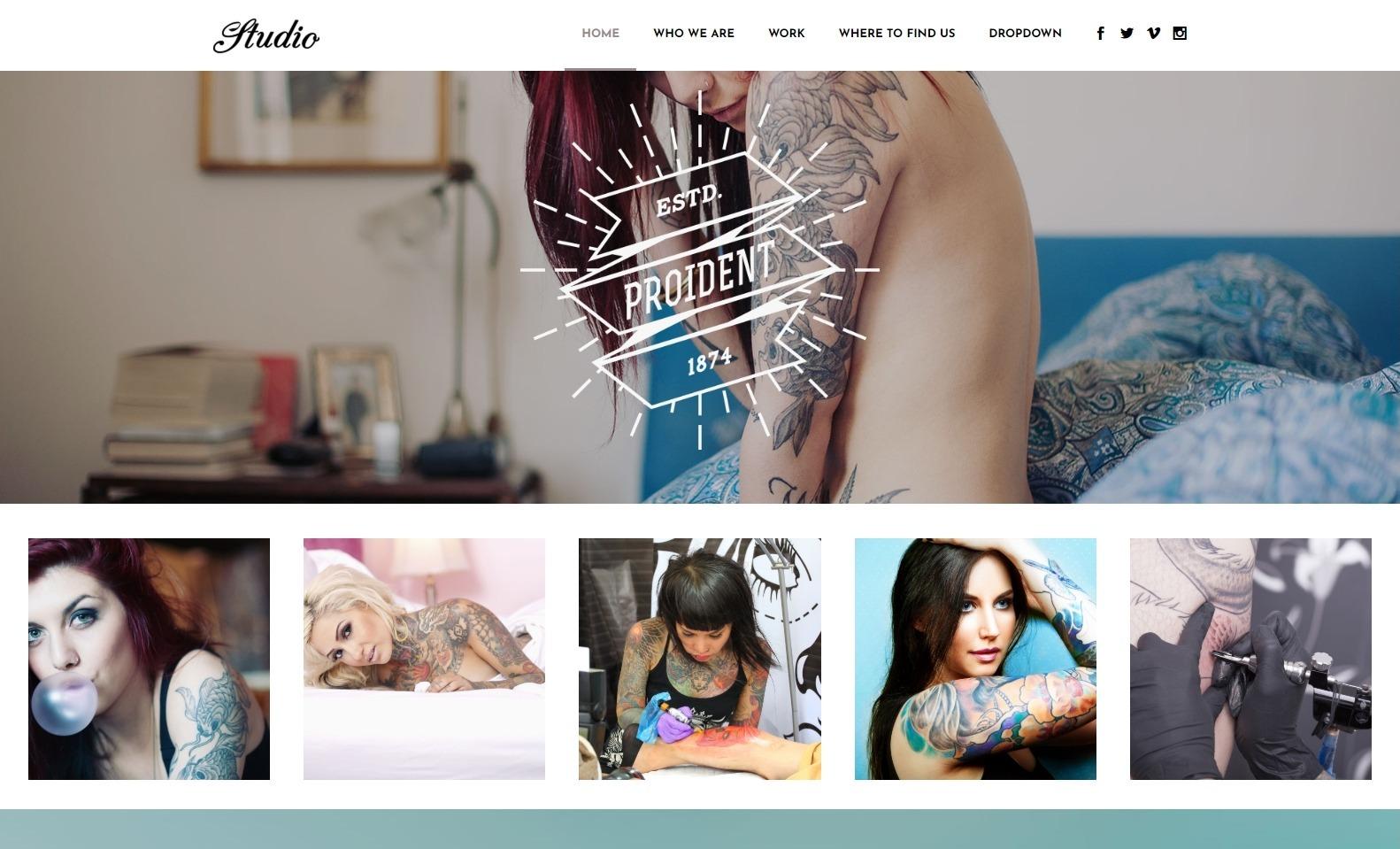 Bodega Multipurpose Theme with Tattoo Shop Design