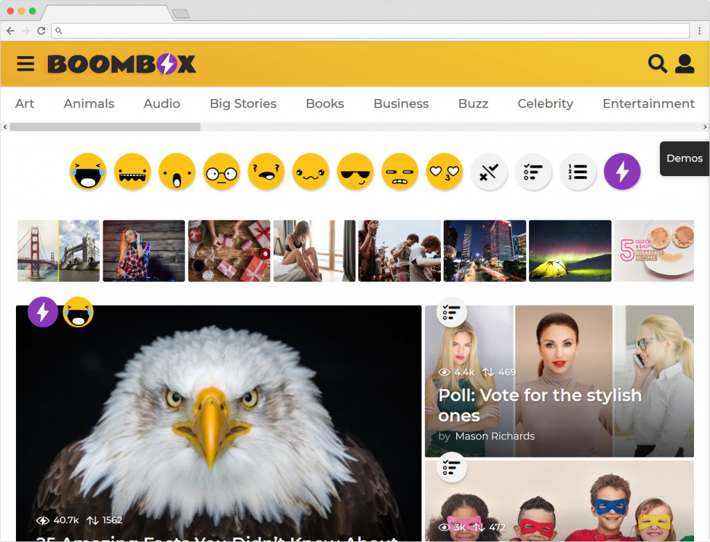 BoomBox Viral Articles Journal Themes For WordPress