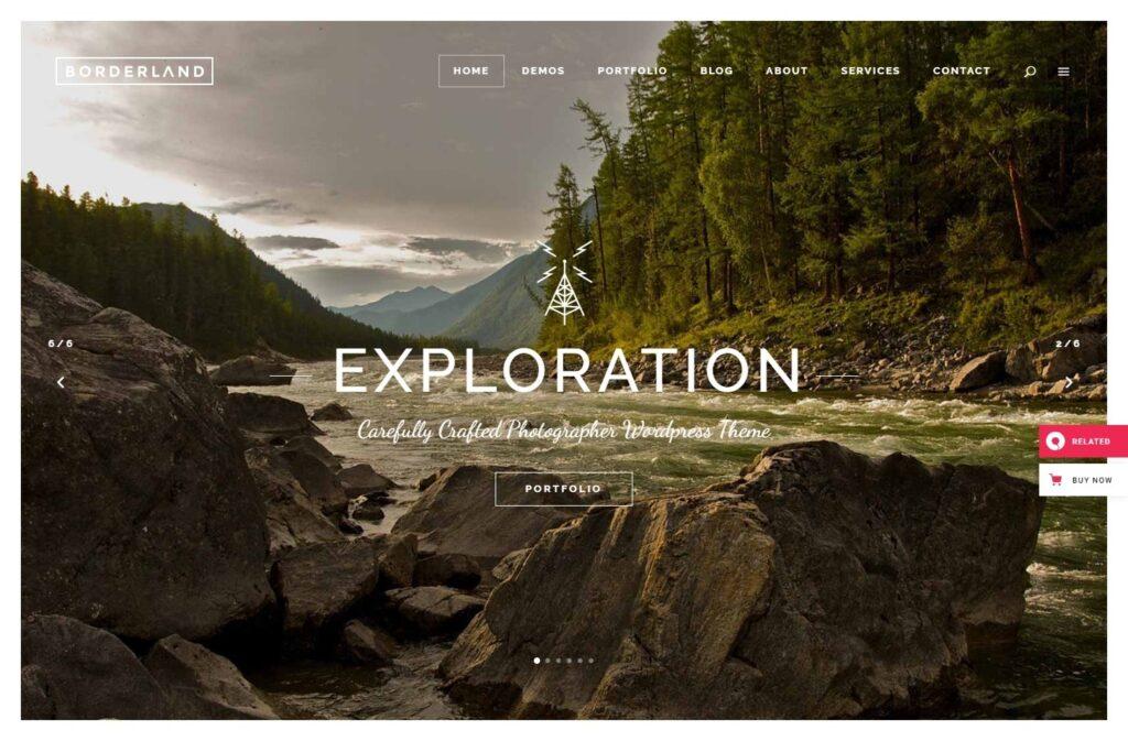 Borderland WordPress Portfolio Template