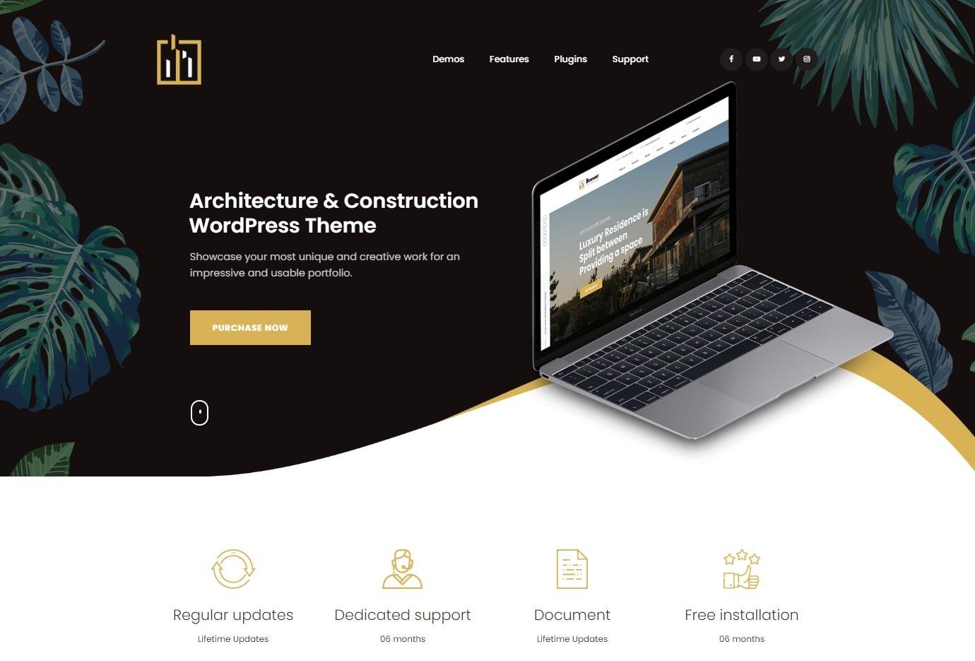Bouwer Architecture Construction WordPress Theme