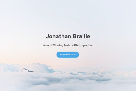 Braile One Page Full Screen Portfolio WordPress Theme