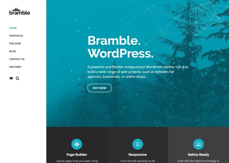 Bramble User Friendly WordPress Blog Theme