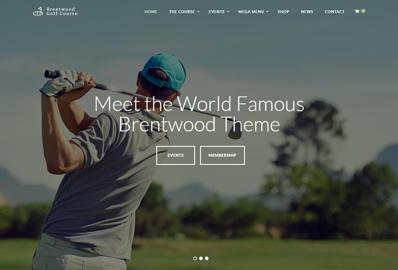 Brentwood WordPress Theme for Golf Courses