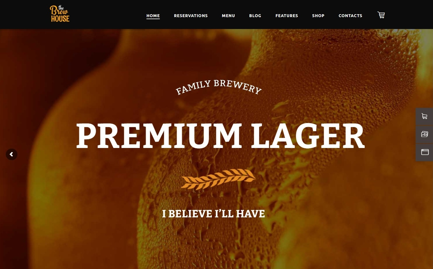 BrewHouse WordPress Theme for Brewers and Brew Pubs