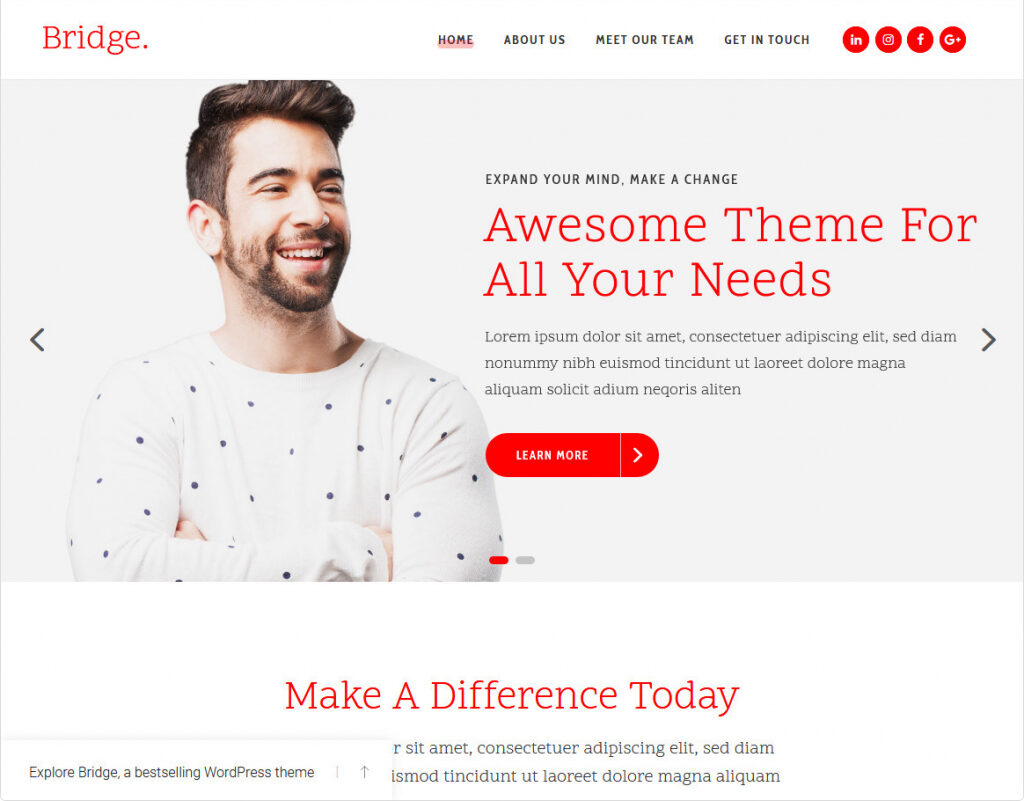 Bridge Creative Agency WordPress Theme