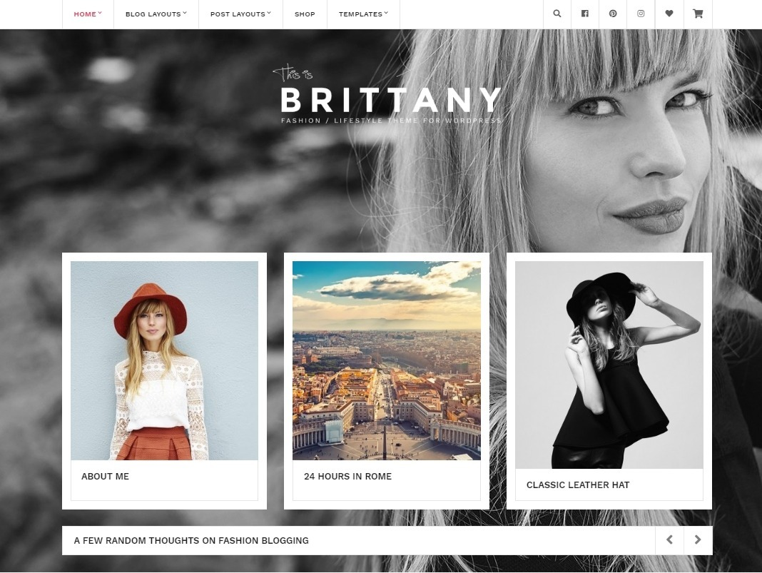 Brittany Fashion and Lifestyle Blog with eCommerce