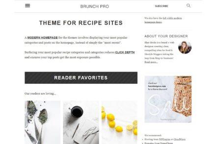 Brunch Pro Coffee Recipe WordPress Themes