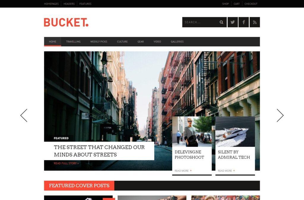 Bucket Clean Flat Modern Personal Blog Theme