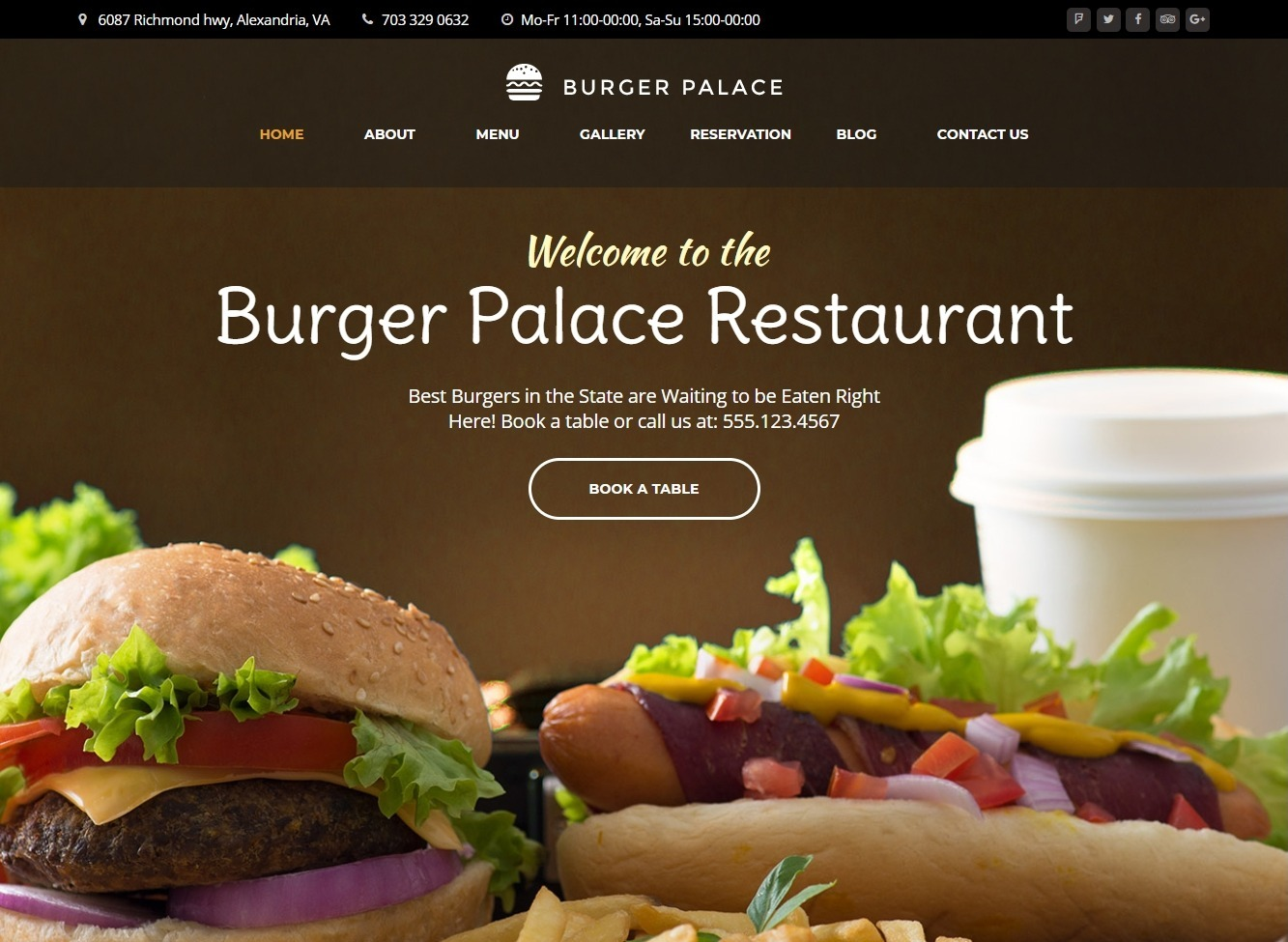 Burger Palace WordPress Fast Food Theme