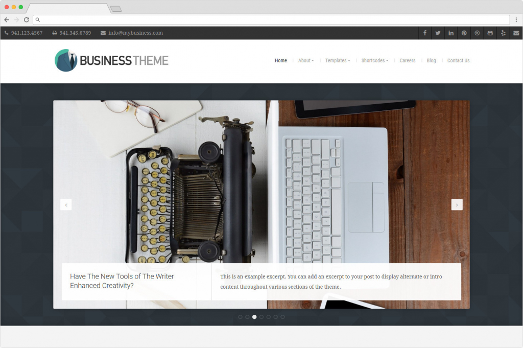 Business Theme Organic WordPress Startup Theme