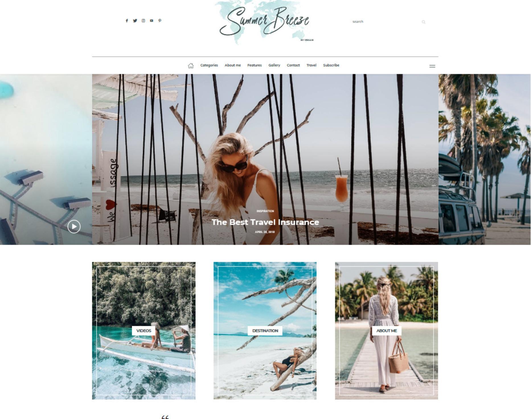 Buzz Lifestyle Blog Magazine WordPress Theme