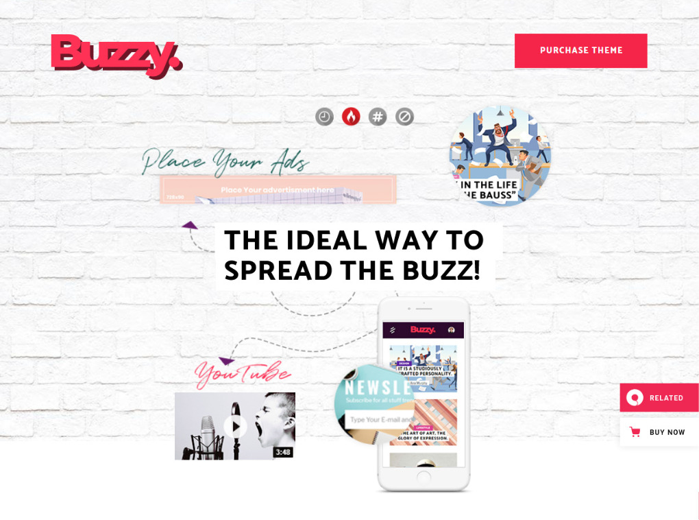 Buzzy Viral Content Magazine Theme